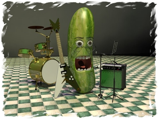 The cucumber that wanted to become a rockstar