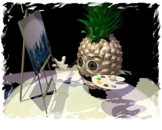 Abstract art and the pineapple