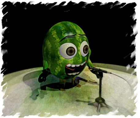 The watermelon that was afraid of singing in front of others